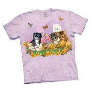 Kittens and Butterflies Lilac T-Shirt - 47876