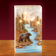 Lighted Glass Bear Lamp - 47878