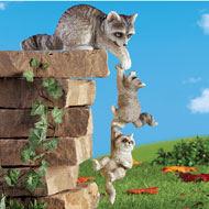 Raccoon Hanging Sitters - 47883