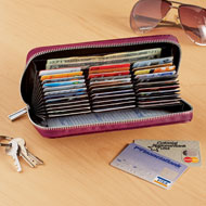 RFID-Blocking Leather Wallet with 36 Slots - 47962