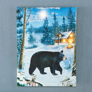 Lighted Bear Canvas - 47988