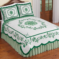 Delicate Leaf Scroll Quilt - 47994