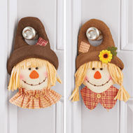 Mr. & Mrs. Scarecrow Door Hangers