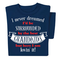 Best Grandkids Navy Novelty T-Shirt - 48377