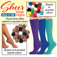 Knee High Socks Assortment - 20 Pairs - 48389
