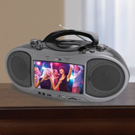 Bluetooth CD and DVD Boombox with LCD Screen - 48440