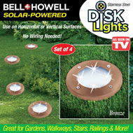 Bell and Howell Solar Disk Lights - Set 4 - 48446