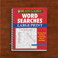 Brain Games Large Print Word Search Puzzles - 48504