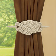 Knot-Style Curtain Tie Backs - Set of 2 - 48584