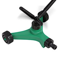 360 Degree Rotating Garden Sprinkler with Wheels - 48653