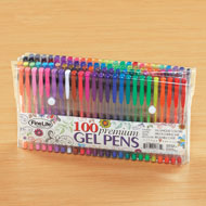 Colorful Gel Pens with Travel Case - Set of 100 - 48654