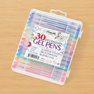 Colorful Gel Pens with Travel Case - Set of 30 - 48655
