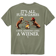 Fun and Games Olive-Colored Funny Novelty T-Shirt - 48771