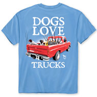 Dogs Love Trucks Sky Blue T-Shirt - 48772