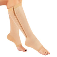 Kooltek Zippered Open-Toe Compression Socks - 48839