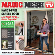 Magic Mesh Hands-Free Double Screen Door