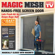 Magic Mesh Hands-Free Garage Screen Door