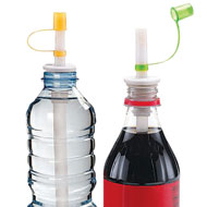 Bottle Straws with Flip-Top Caps - Set of 2 - 49674