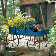 Amish Wagon Decorative Garden Planter - 50170