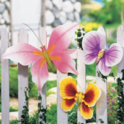 Garden Butterfly Outdoor Fence Decor