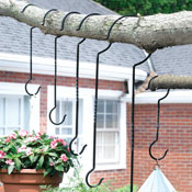 Outdoor Plant Hanger Hooks - Set of 6 - 52305