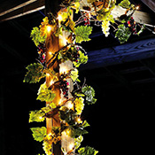 Lighted Grape Leaf Garland