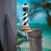 Lighthouse Lighted Wind Chime Decoration