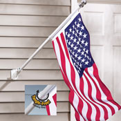 Tangle Free American Flag and Flag Pole
