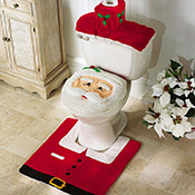 Santa Toilet Seat Cover and Rug Set - 88267