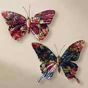 Floral Butterfly 3D Wall Decor Art