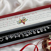 12 Days of Christmas Holiday Bracelet w/ Gift Box