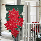 Christmas Poinsettia Outdoor Holiday Flag or Banner