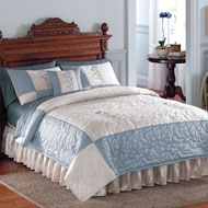 Embroidered Floral Quilted Patricia Coverlet