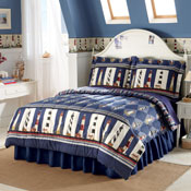 Lighthouse Reversible Stripes Comforter Bedding