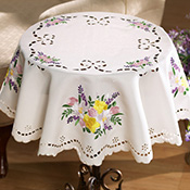 Pretty Spring Floral Table Linens