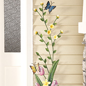 Blooming Spring Flowers Metal Wall Decoration
