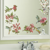 Hummingbird Bathroom Removable Wall Decal Stickers