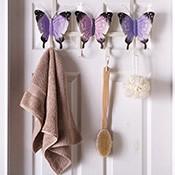 Decorative Butterfly Over the Door Hooks