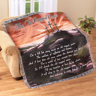 Rugged Cross Woven Tapestry Throw Blanket - 94915