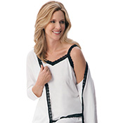 Comfy Lounge Tank Top w/ Black Lace Trim