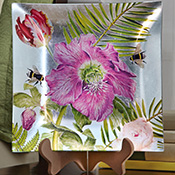 Botanical Garden Decorative Keepsake Plate w/ Stand