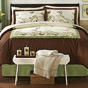 Butterfly Bedding Comforter, Sham, and Bedskirt Set