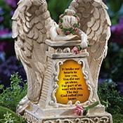 Solar Lighted Weeping Angel Memorial Garden Stone