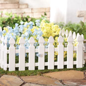 White Picket Fence Garden Borders - Set of 4 - 95307
