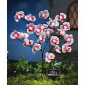 Solar Fiber Optic Orchid Branches Garden Stake
