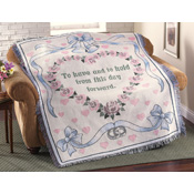 Wedding Bells Keepsake Tapestry Throw Blanket