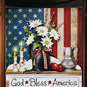 God Bless America Patriotic Kitchen Dishwasher Cover
