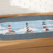 Lighthouse Braided Nautical Runner Rug