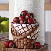 Red Apple Kitchen Paper Towel Holder