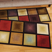 Optic Squares Accent Rug